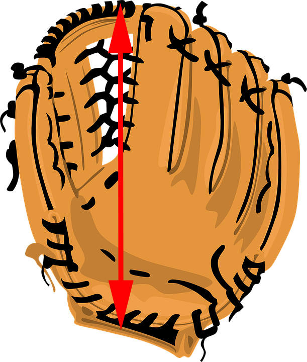 softball glove sizing diagram