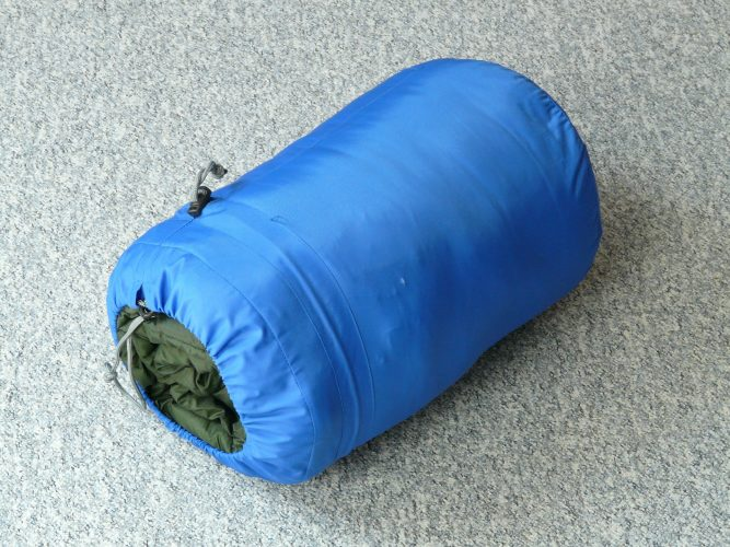 tied up sleeping bag