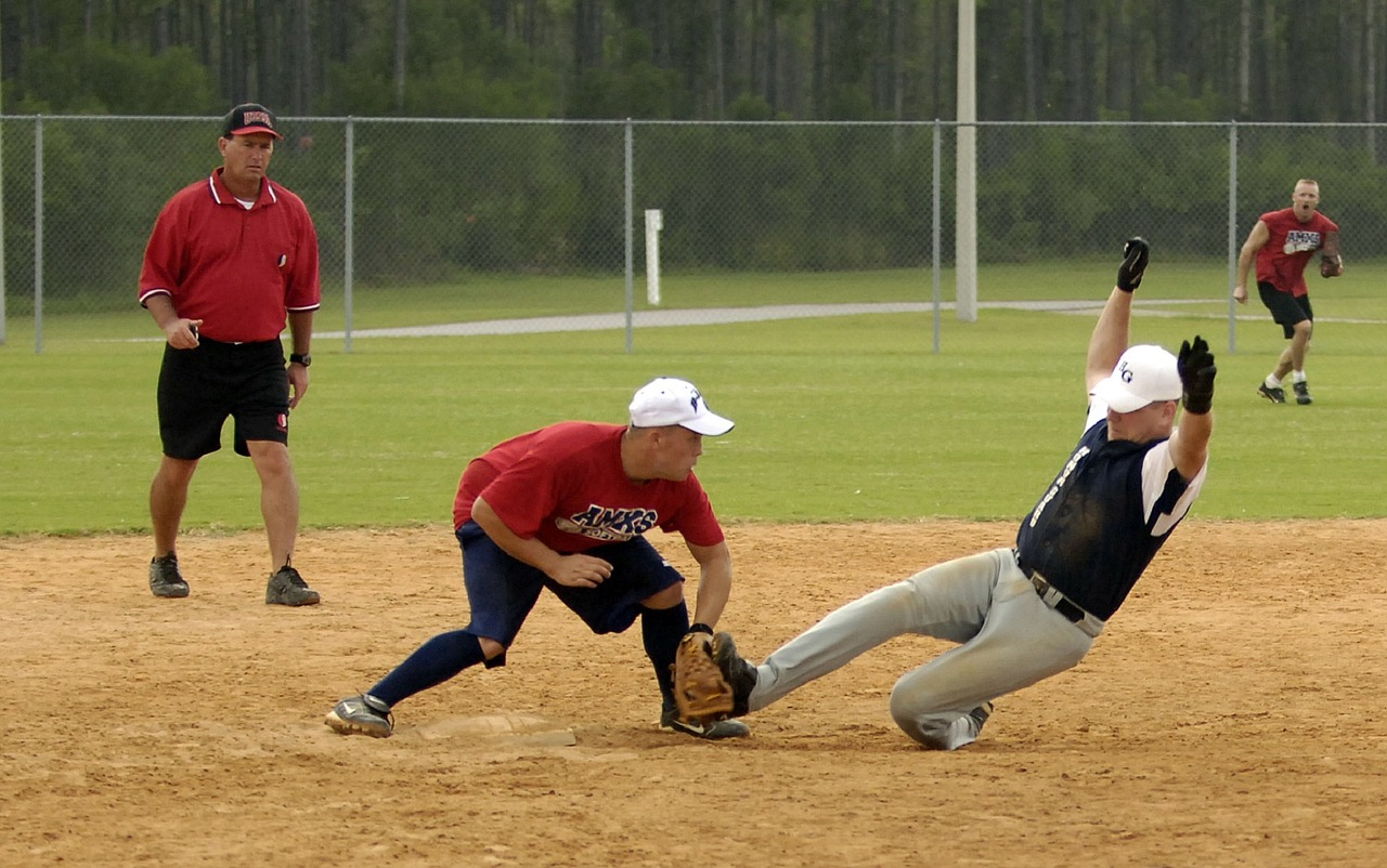sliding slowpitch softball